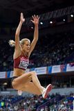 Athletics - Woman Long Jump, KLISHINA Darya Royalty Free Stock Photos