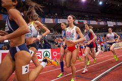 Athletics - Woman 1500m Stock Photography