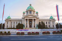 Belgrade, Serbia. National Assembly of Serbia in Belgrade stock image