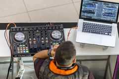 DJ club music kit royalty free stock images