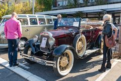Ford A Phaeton, built at year 1928. stock images