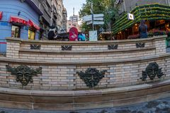 Public water fountain in historic Skadarlija quarter. Belgrad, S Stock Photography