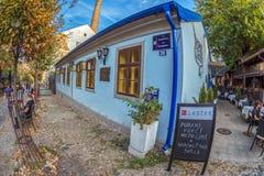 Restaurant on the old street Skadarlija, Belgrade, Serbia Royalty Free Stock Image