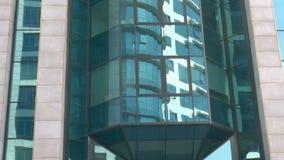 BELGRADE SERBIA, PAŹDZIERNIK, - 21, 2017: Budynku biurowego zespół lokalizować w nowym centrum biznesu na Belgrade Generali ubezp zbiory wideo