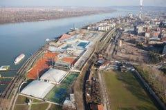 Belgrade, Serbia, riverbank Stock Photo