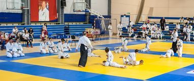 Kids and Children Martial Arts Sport Demonstration. Kyokushin Be Stock Images