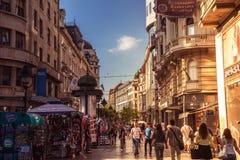BELGRADE, SERBIA - SEPTEMBER 23: Knez Mihailova Street on Septem Royalty Free Stock Photo