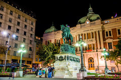 BELGRADE, SERBIA - SEPTEMBER 23:  Prince Michael statue at Squar Stock Photography