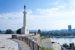 Belgrade Serbia. Victor Monument on Kalemegdan Fortress Belgrade Serbia royalty free stock images