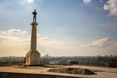 Belgrade Serbia  Victor Monument on Kalemegdan Fortress Stock Photo
