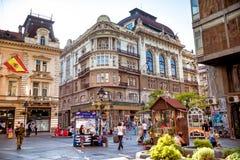 BELGRADE SERBIA, WRZESIEŃ, - 23, 2015: Knez Mihailova ulica lub zdjęcie royalty free