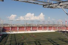 BELGRADE, SERBIE, - août 2017 : Terrain de football en haut Photo libre de droits