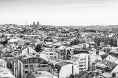 Belgrade, Serbie 11 09 2017 : Panorama de Belgrade pris du saint Sava de temple Images libres de droits
