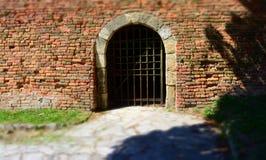BELGRADE SERBIEN - AUGUSTI 15, 2016: Arkitekturdetaljer av den Kalemegdan fästningen i Belgrade arkivbilder