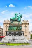 BELGRADE SERBIEN - MAJ 10: Prins Mihailo Monument på Maj 10, 2016 i Belgrade Det lokaliseras i den huvudsakliga republikfyrkanten Royaltyfri Fotografi