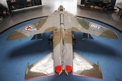 Belgrade Serbien-marknad 16, 2015: Jugoslaviskt Eagle Plane im museum Y arkivbild