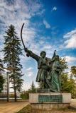 Belgrade Serbien 07/09/2017: Monument av Milos Obrenovic i Belgrade Royaltyfri Foto