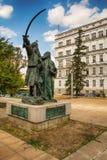 Belgrade Serbien 07/09/2017: Monument av Milos Obrenovic i Belgrade Royaltyfri Fotografi