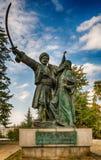 Belgrade Serbien 07/09/2017: Monument av Milos Obrenovic i Belgrade Arkivbilder