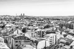 Belgrade Serbien 11 09 2017 : Panorama av Belgrade som tas från tempelhelgonet Sava Royaltyfria Bilder