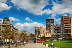 Belgrade Serbien 07/09/2017: Regering av republiken av Serbien Arkivbild