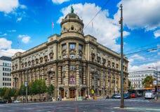 Belgrade Serbien 07/09/2017: Regering av republiken av Serbien Royaltyfri Fotografi