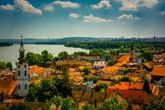 Belgrade Serbien stadssikt fotografering för bildbyråer