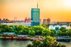 Belgrade Serbien stadssikt arkivfoton