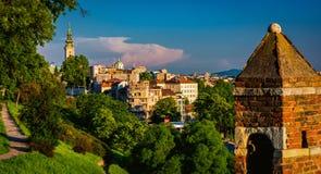 Belgrade Serbien stadssikt royaltyfria foton