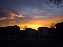 Belgrade soluppgång Arkivfoton