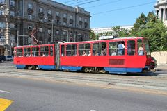 Belgrade streetcar Stock Photography