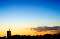 Belgrade sunset Stock Images
