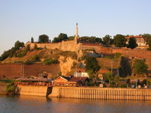 Belgrade in sunset colors. Belgrade fortress in sunset colors Royalty Free Stock Image