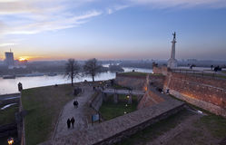 Belgrade sunset, Serbia Stock Photography