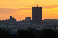 Belgrade at sunset Royalty Free Stock Image