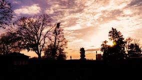Belgrade at sunset stock photography