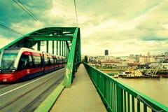 Belgrade tram Royalty Free Stock Photo
