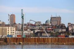 Belgrade waterfront construction site Royalty Free Stock Photo