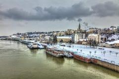Belgrade in winter Stock Photos