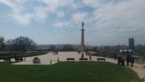 Belgrade wycieczki widoku słońce Obrazy Royalty Free