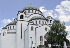 Belgrado Beograd, san Sava Cathedral Hram Svetog Save Fotografie Stock