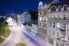 Belgrado bij nacht Stock Fotografie
