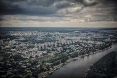 Belgrado da un aeroplano immagini stock libere da diritti