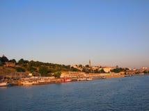 Belgrado dal fiume fotografia stock