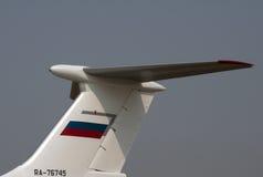 Cauda de um aircraft-2 militar Foto de Stock Royalty Free