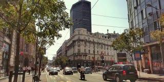 Belgrado, de stad voor alle tijden en alle generaties stock afbeelding