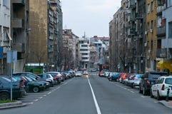 Belgrado. De straat van Natalia van Kraljine. Stock Foto