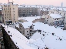 Belgrado in de winter Royalty-vrije Stock Foto's