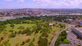 Belgrado del cielo almacen de video
