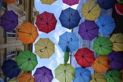 Belgrado dell'ombrello variopinta Immagine Stock Libera da Diritti